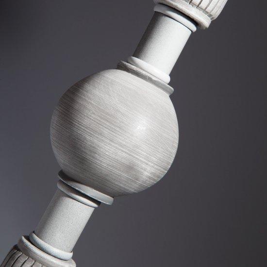 Фото №8 Настольная лампа с абажуром 01026/1 серый
