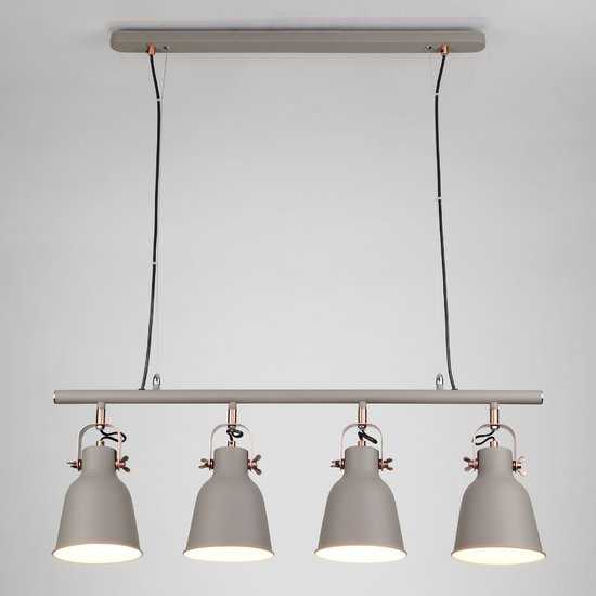 Подвесной светильник 50083/4 серый фото