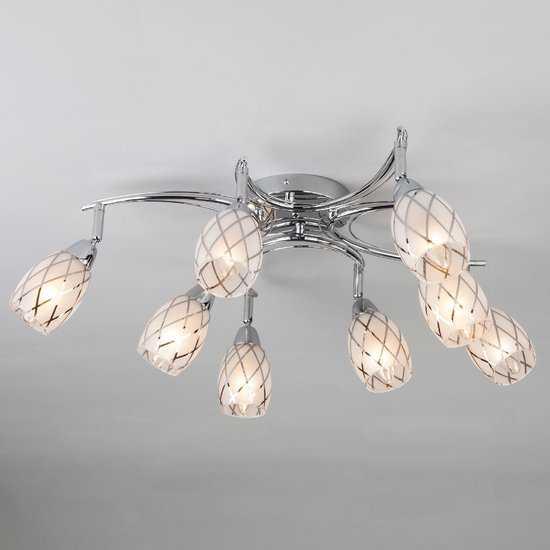 Потолочный светильник с поворотными плафонами 30128/8 хром фото
