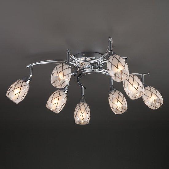Фото №3 Потолочный светильник с поворотными плафонами 30128/8 хром