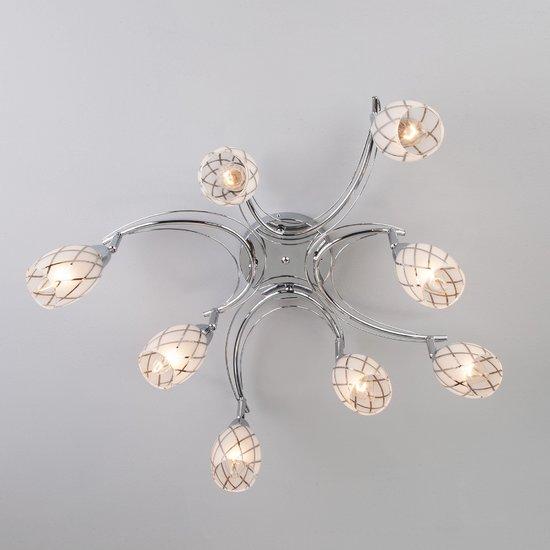 Фото №4 Потолочный светильник с поворотными плафонами 30128/8 хром