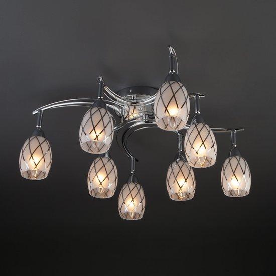 Фото №5 Потолочный светильник с поворотными плафонами 30128/8 хром