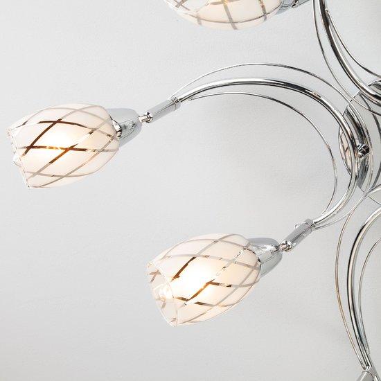 Фото №6 Потолочный светильник с поворотными плафонами 30128/8 хром