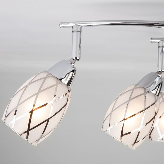 Фото №8 Потолочный светильник с поворотными плафонами 30128/8 хром