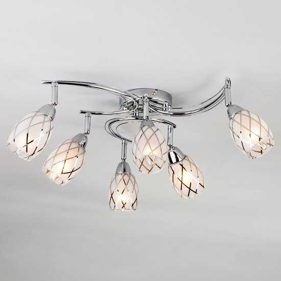 Потолочный светильник с поворотными плафонами 30128/6 хром фото