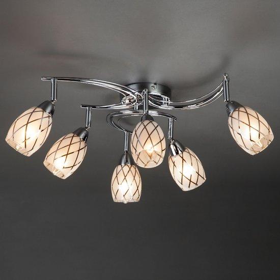 Фото №3 Потолочный светильник с поворотными плафонами 30128/6 хром