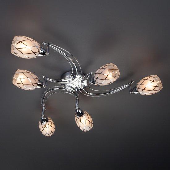 Фото №4 Потолочный светильник с поворотными плафонами 30128/6 хром