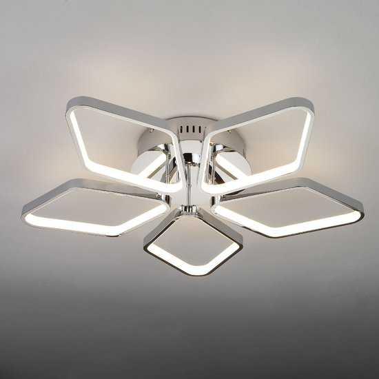 Светодиодный потолочный светильник 90081/5 хром фото