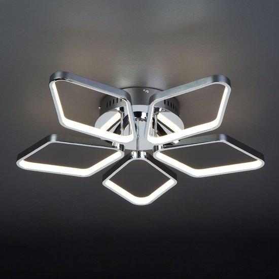 Фото №3 Светодиодный потолочный светильник 90081/5 хром