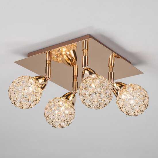 Фото №2 Потолочный светильник с поворотными плафонами 20042/4 золото