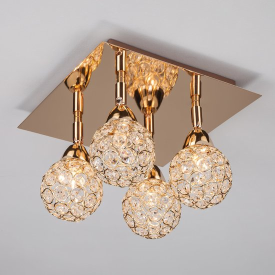 Фото №4 Потолочный светильник с поворотными плафонами 20042/4 золото