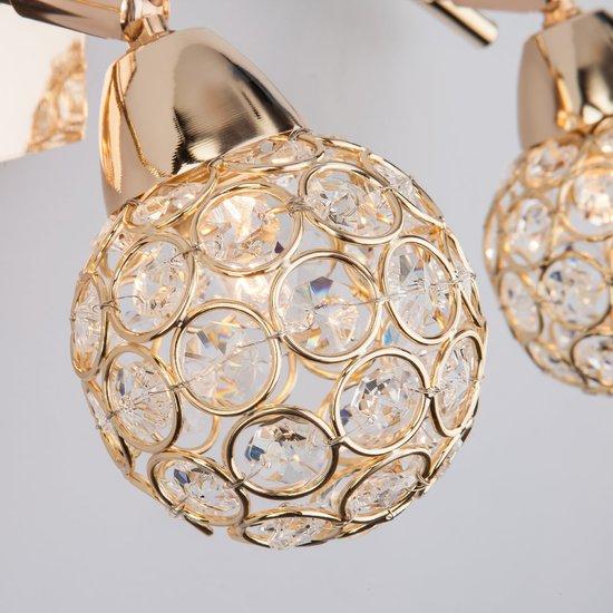 Фото №3 Настенный светильник с хрусталем 20042/3 золото