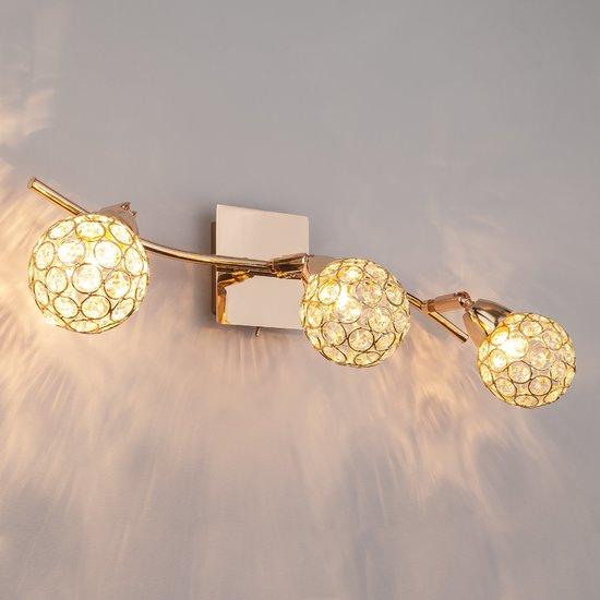 Фото №5 Настенный светильник с хрусталем 20042/3 золото