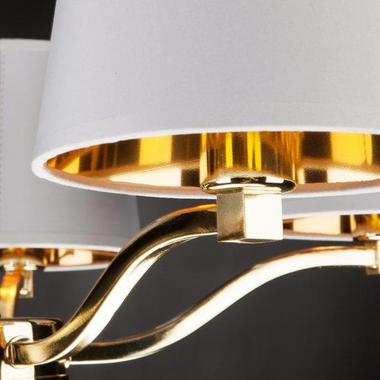 Фото №10 Подвесная люстра с абажурами 70073/5 золото
