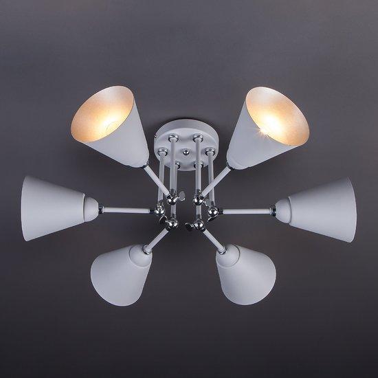 Фото №3 Потолочный светильник с поворотными рожками 70052/6 серый/серебро