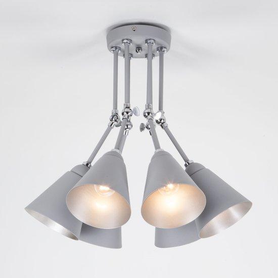 Фото №4 Потолочный светильник с поворотными рожками 70052/6 серый/серебро
