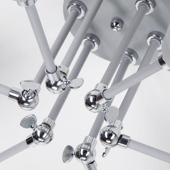 Фото №6 Потолочный светильник с поворотными рожками 70052/6 серый/серебро
