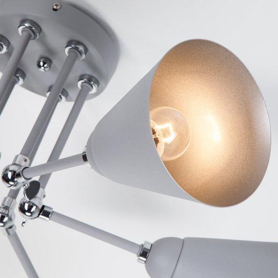 Фото №7 Потолочный светильник с поворотными рожками 70052/6 серый/серебро