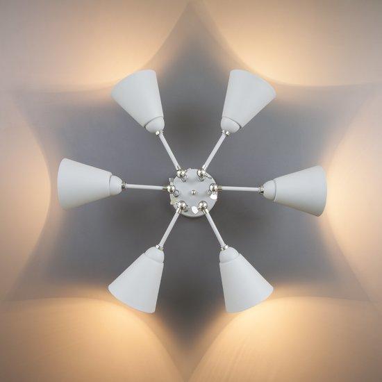 Фото №10 Потолочный светильник с поворотными рожками 70052/6 серый/серебро