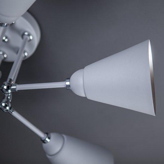 Фото №11 Потолочный светильник с поворотными рожками 70052/6 серый/серебро