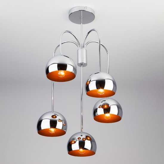 Подвесной светильник в стиле Лофт 70067/5 хром фото