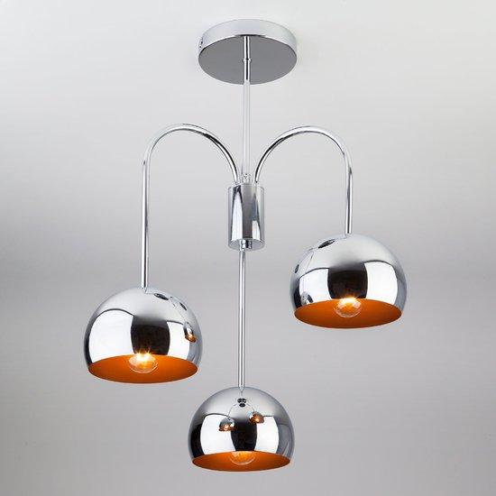 Фото №2 Подвесной светильник в стиле Лофт 70067/3 хром