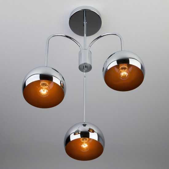 Фото №4 Подвесной светильник в стиле Лофт 70067/3 хром
