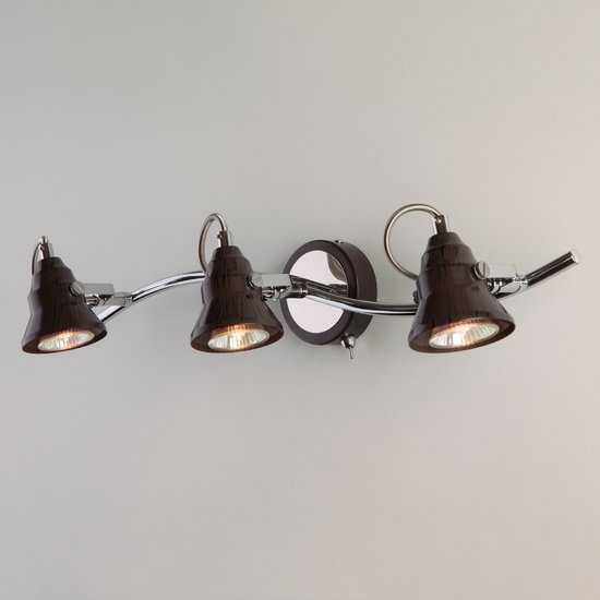 Фото №2 Настенный светильник с поворотными плафонами 20062/3 хром/венге