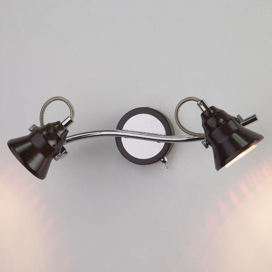 Фото №3 Настенный светильник с поворотными плафонами 20062/2 хром/венге