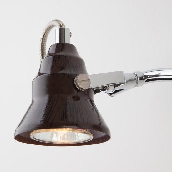 Фото №5 Настенный светильник с поворотными плафонами 20062/2 хром/венге