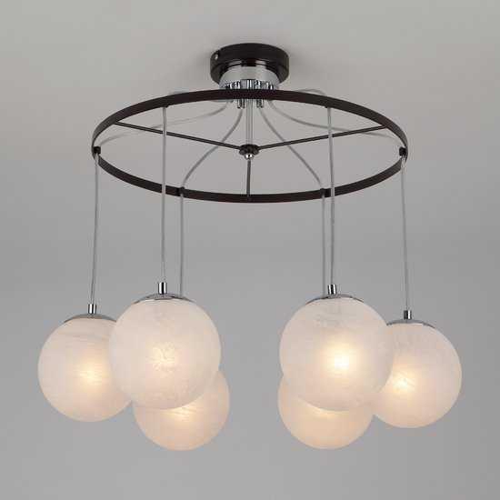 Подвесной светильник в стиле лофт 70069/6 хром/черный фото