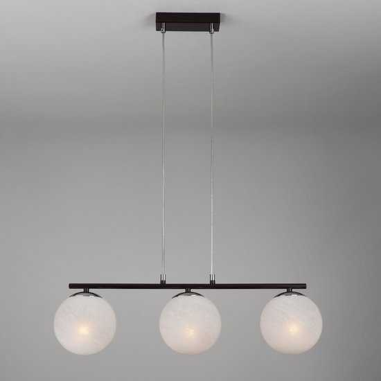 Подвесной светильник в стиле лофт 70069/3 хром/черный фото