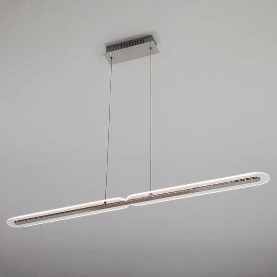 Светодиодный подвесной светильник 90073/2 хром фото