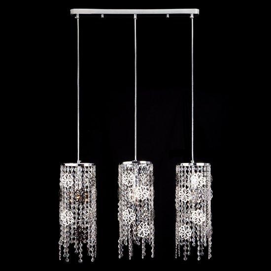 Фото №3 Подвесной светильник с хрусталем 10083/3 хром / прозрачный хрусталь