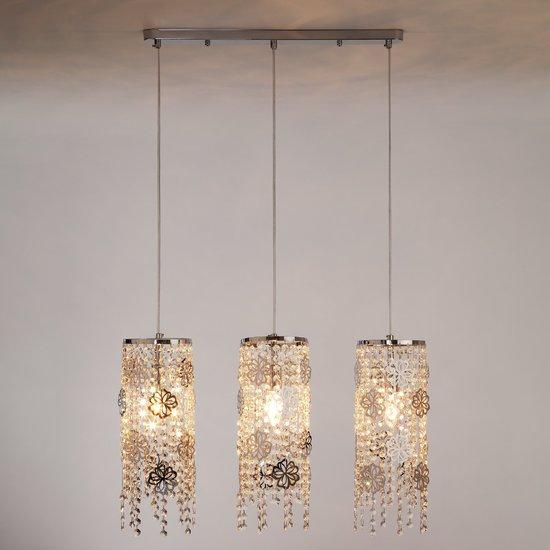 Фото №4 Подвесной светильник с хрусталем 10083/3 хром / прозрачный хрусталь