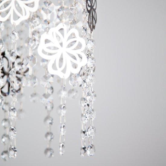 Фото №5 Подвесной светильник с хрусталем 10083/3 хром / прозрачный хрусталь
