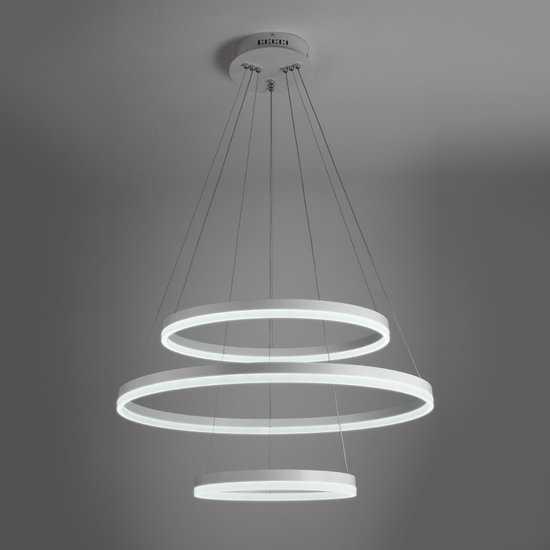Светодиодный подвесной светильник 90078/3 белый фото