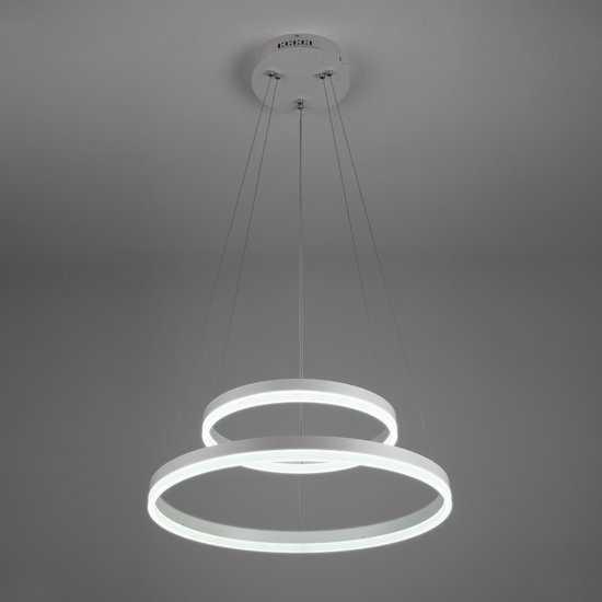 Светодиодный подвесной светильник 90078/2 белый фото