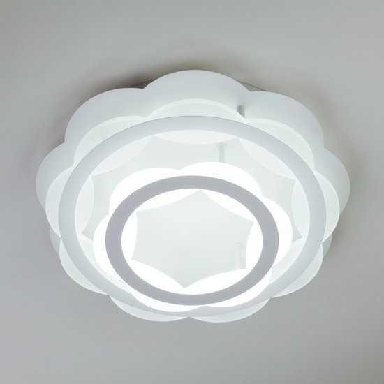 Светодиодная люстра с регулируемой температурой света и яркости 90076/2 белый фото