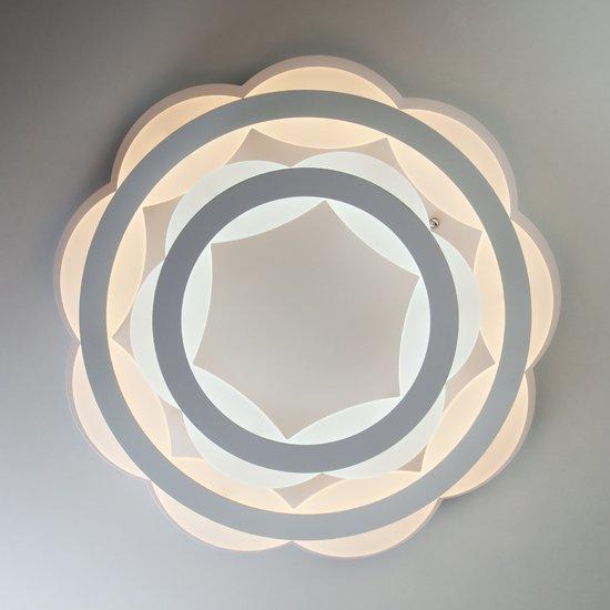 Фото №3 Светодиодная люстра с регулируемой температурой света и яркости 90076/2 белый