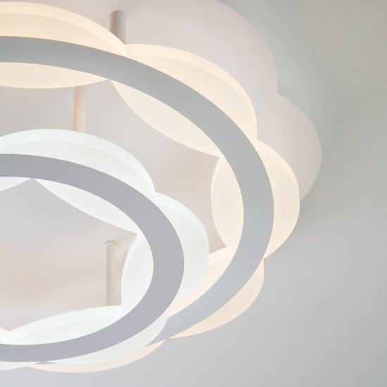 Фото №4 Светодиодная люстра с регулируемой температурой света и яркости 90076/2 белый