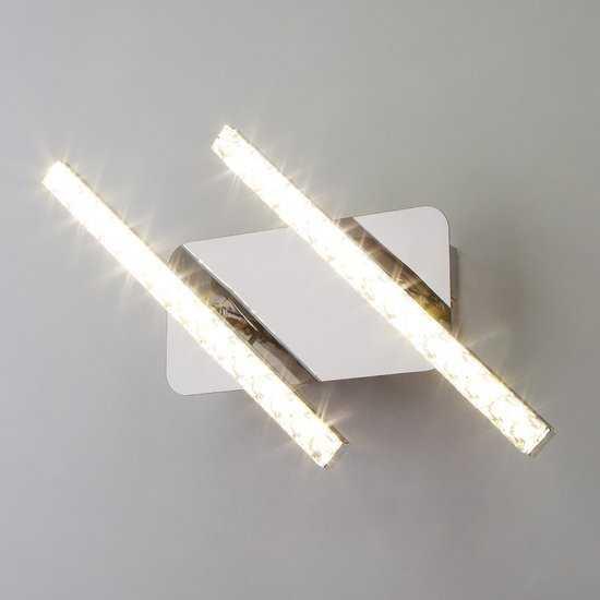 Фото №2 Светодиодный настенный светильник с хрусталем 90041/2 хром