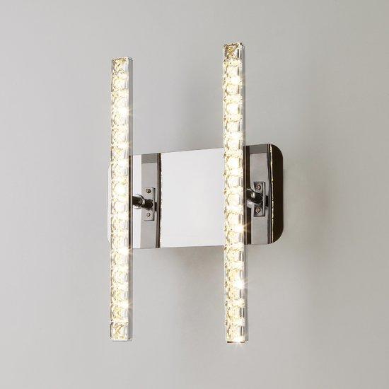 Фото №3 Светодиодный настенный светильник с хрусталем 90041/2 хром