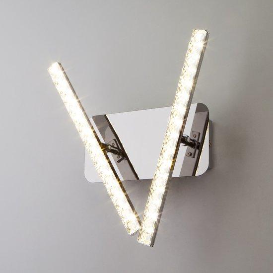 Фото №4 Светодиодный настенный светильник с хрусталем 90041/2 хром