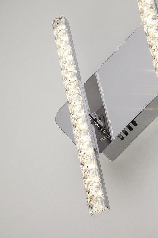Фото №7 Светодиодный настенный светильник с хрусталем 90041/2 хром