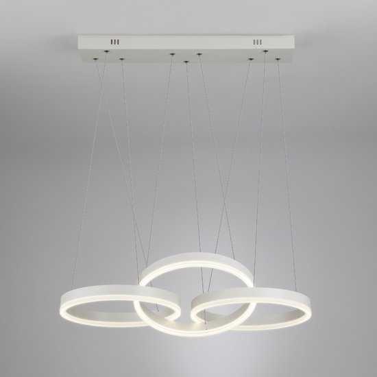 Светодиодный подвесной светильник 90070/3 белый фото