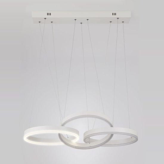 Фото №4 Светодиодный подвесной светильник 90070/3 белый