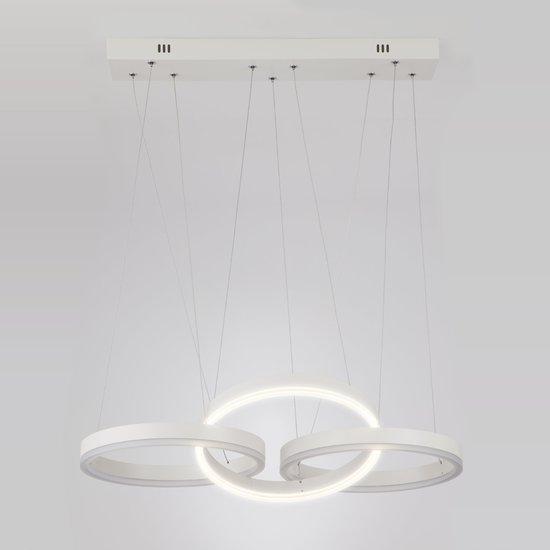 Фото №5 Светодиодный подвесной светильник 90070/3 белый