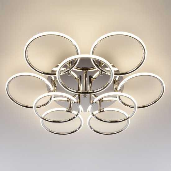 Светодиодный потолочный светильник 90069/9 хром фото
