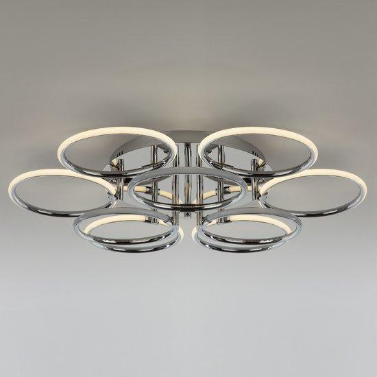 Фото №3 Светодиодный потолочный светильник 90069/9 хром
